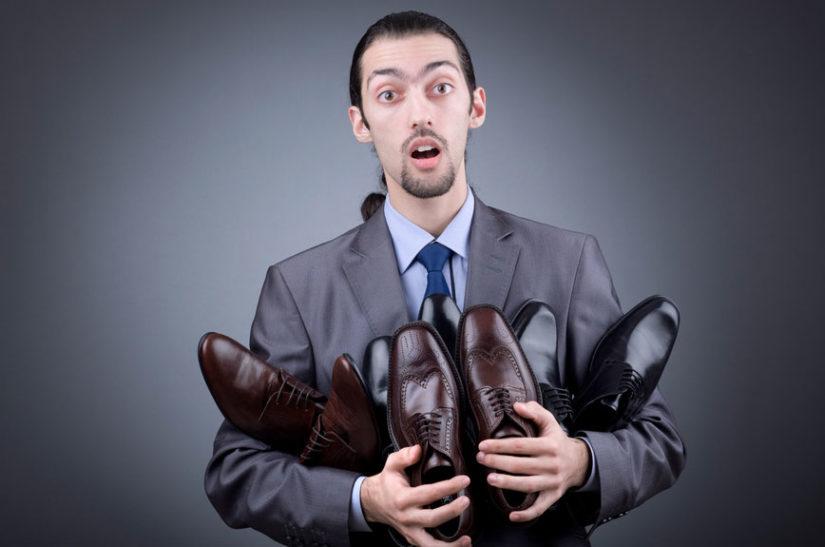 размеры мужской обуви в России, Китае, США